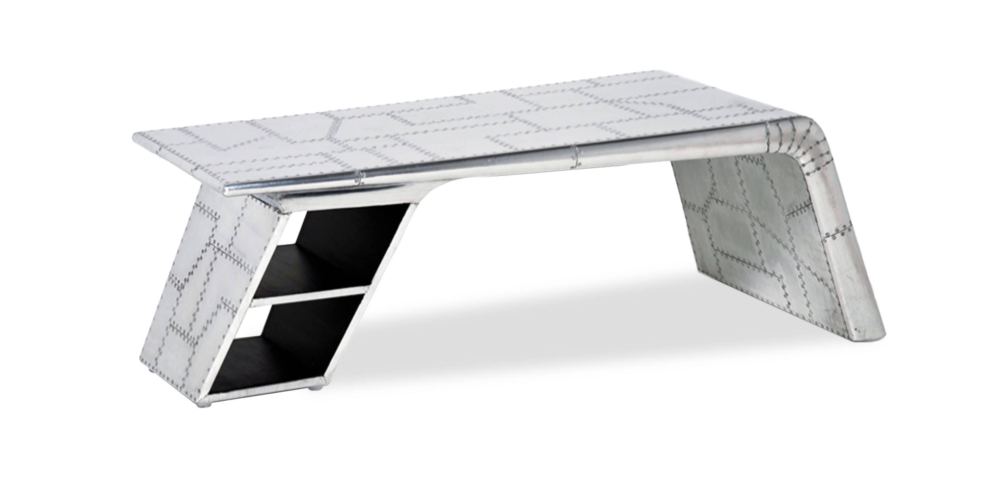 Aviator Airplane Wing Coffee Table - Aluminium - Coffee Tables for Aluminium Coffee Tables (Image 7 of 30)