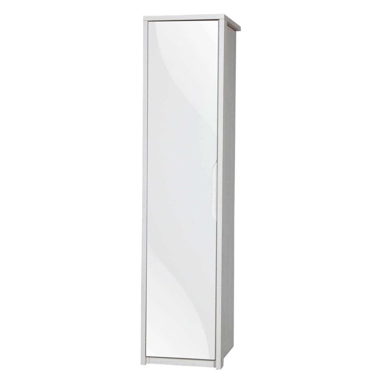 Avola Cream Gloss Single Wardrobe – Next Day Delivery Avola Cream Pertaining To Cream Single Wardrobes (View 3 of 15)