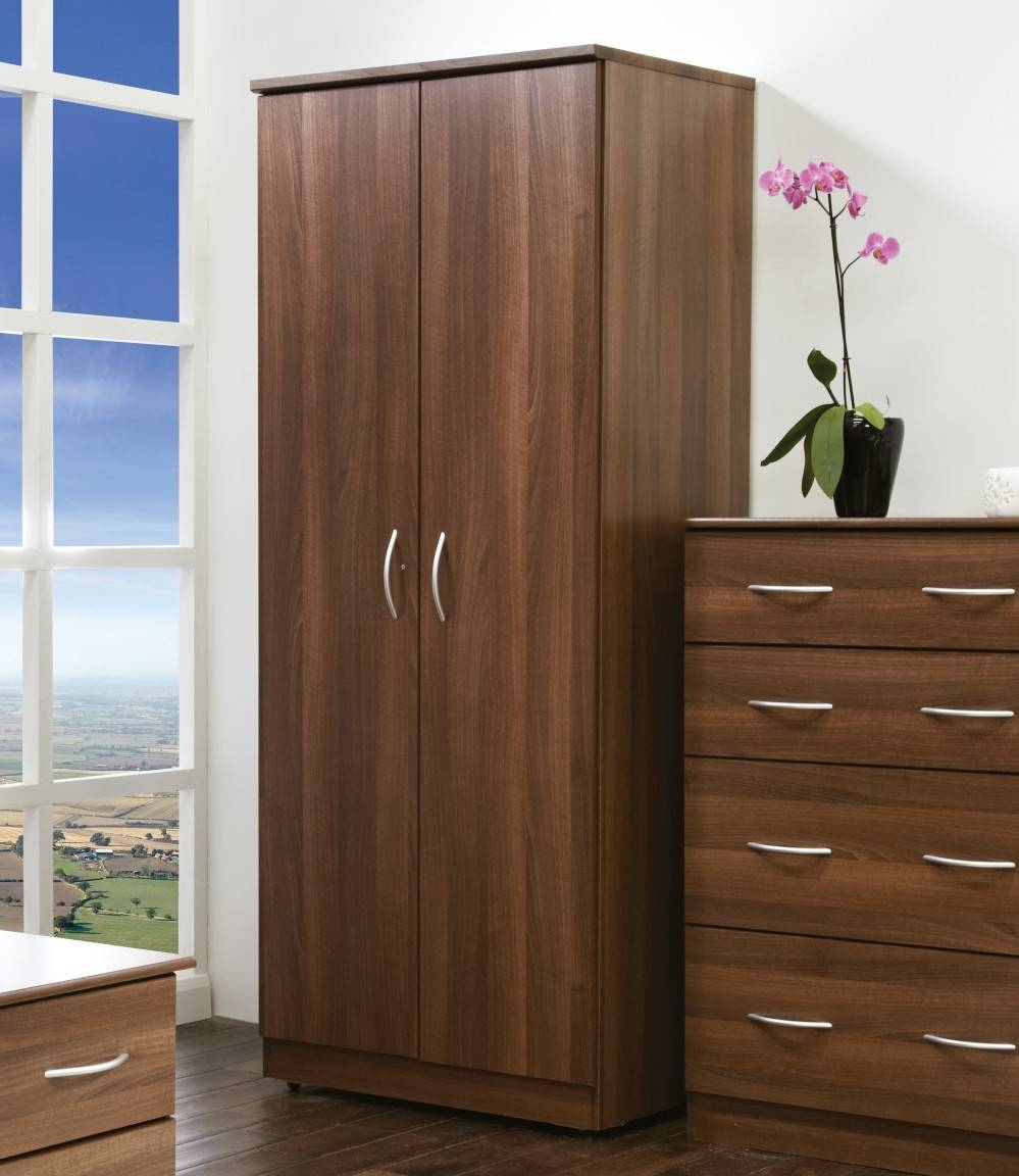 Avon Double Wardrobe, Dark Brown Double Wardrobe, Fully Assembled throughout Brown Wardrobes (Image 1 of 15)