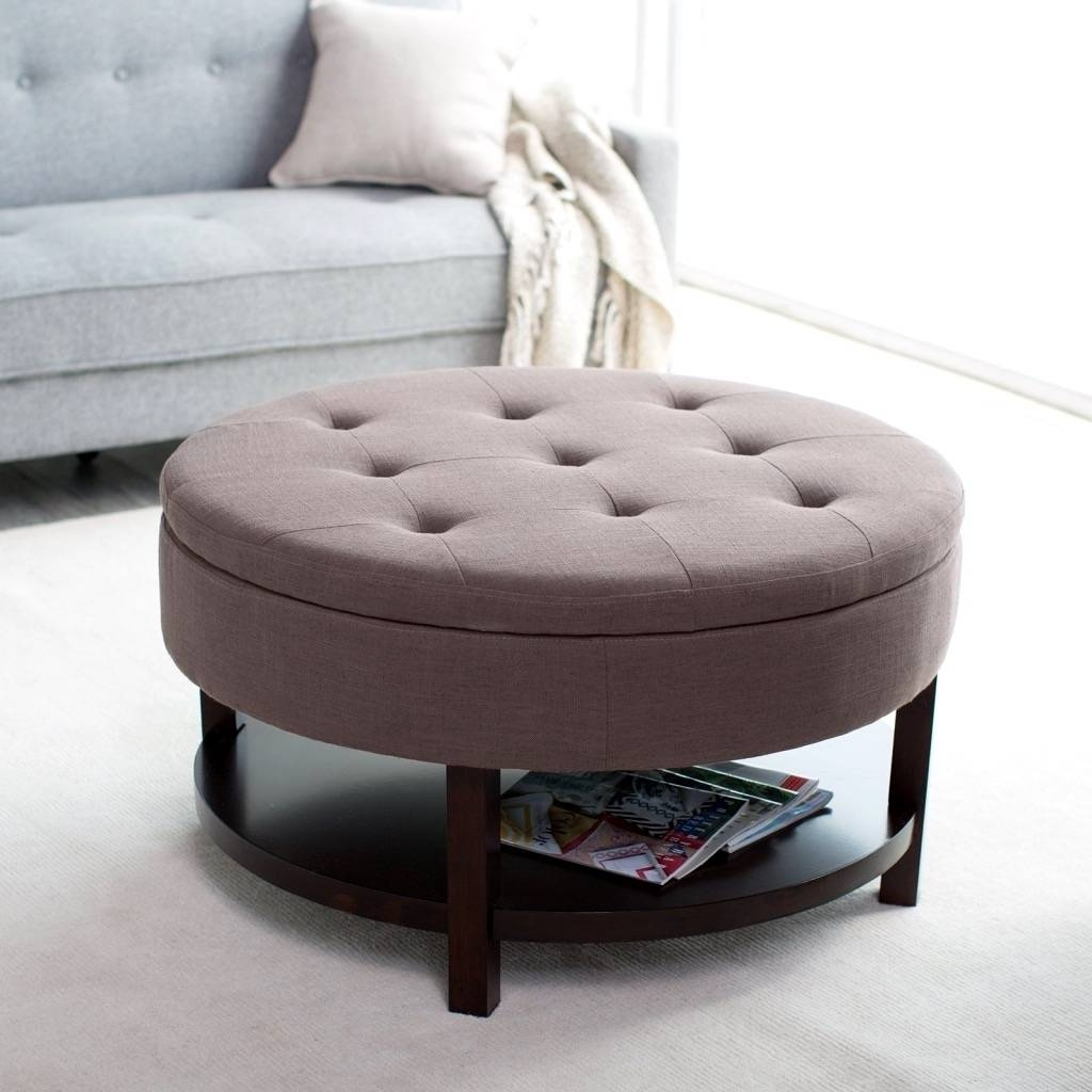 Awesome Round Ottoman Coffee Table Images Gallery. Furniture with regard to Low Coffee Tables With Drawers (Image 2 of 30)
