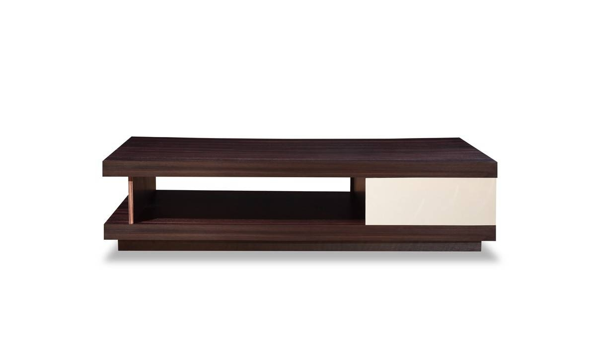 A&x Caligari Modern Oak & Grey Gloss Coffee Table throughout Gloss Coffee Tables (Image 1 of 30)