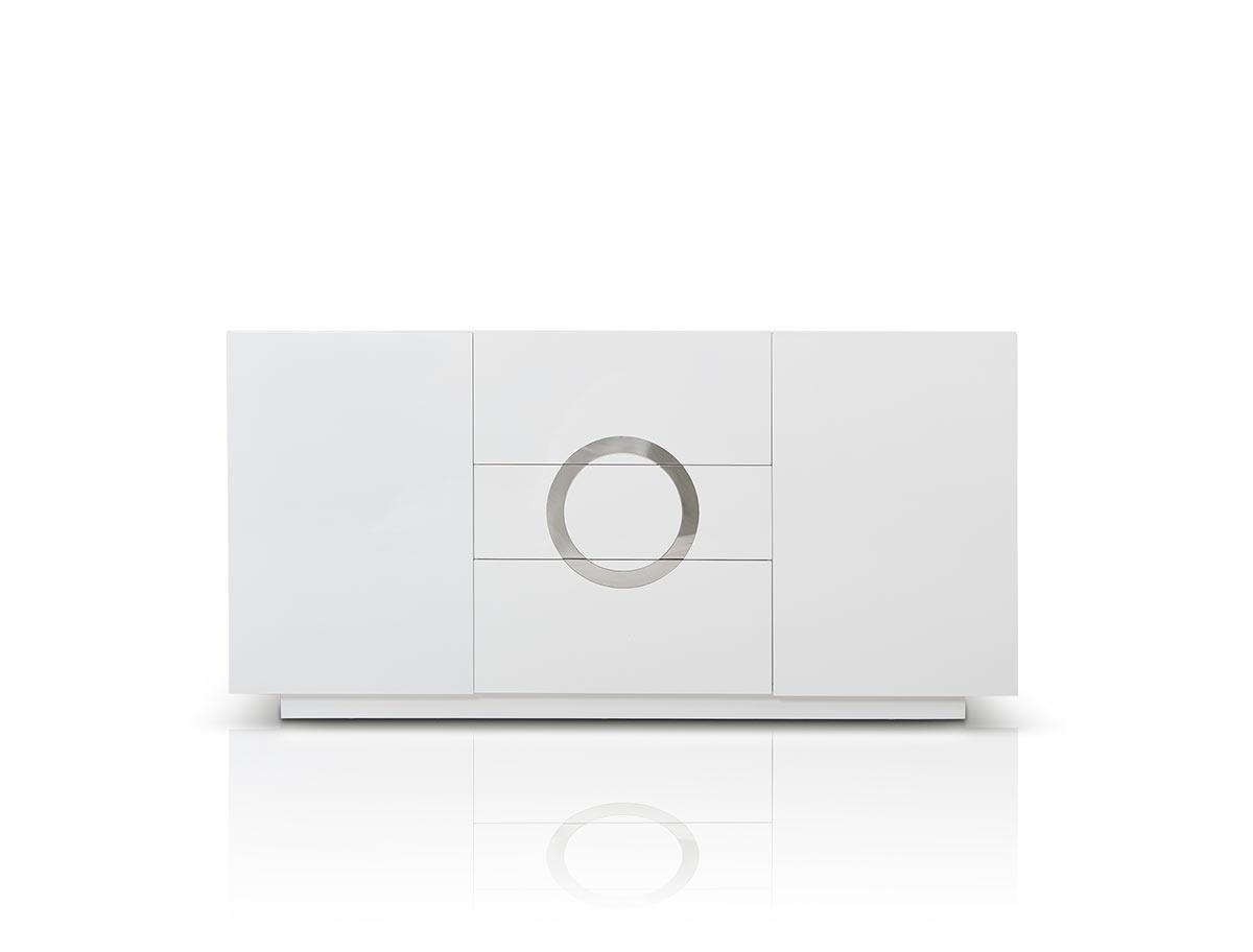 A&x Ovidius Modern White High Gloss Buffet within Black Gloss Buffet Sideboards (Image 1 of 30)