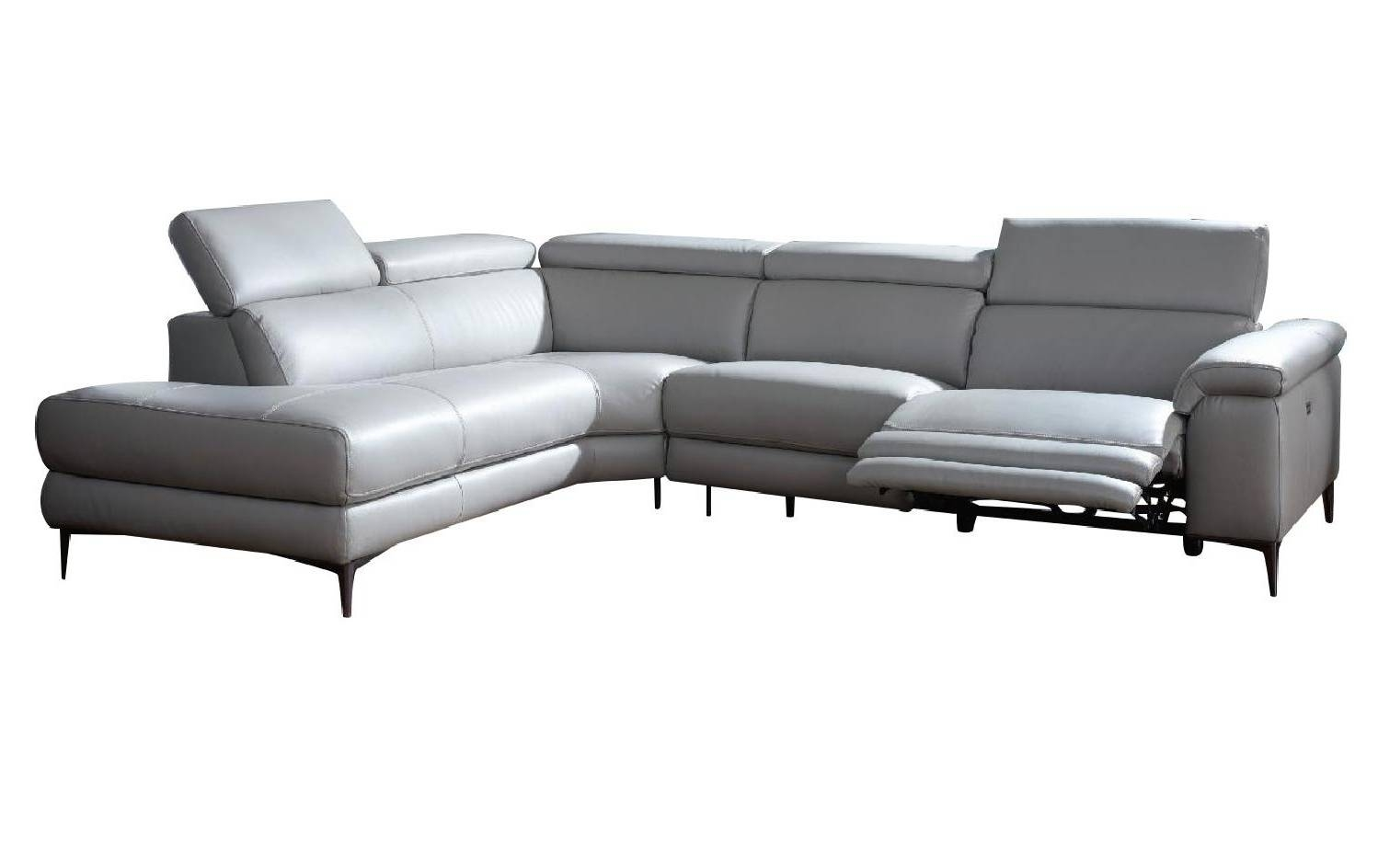 Axel Gray Sectional With Electric Recliner throughout Sectional Sofas With Electric Recliners (Image 3 of 30)
