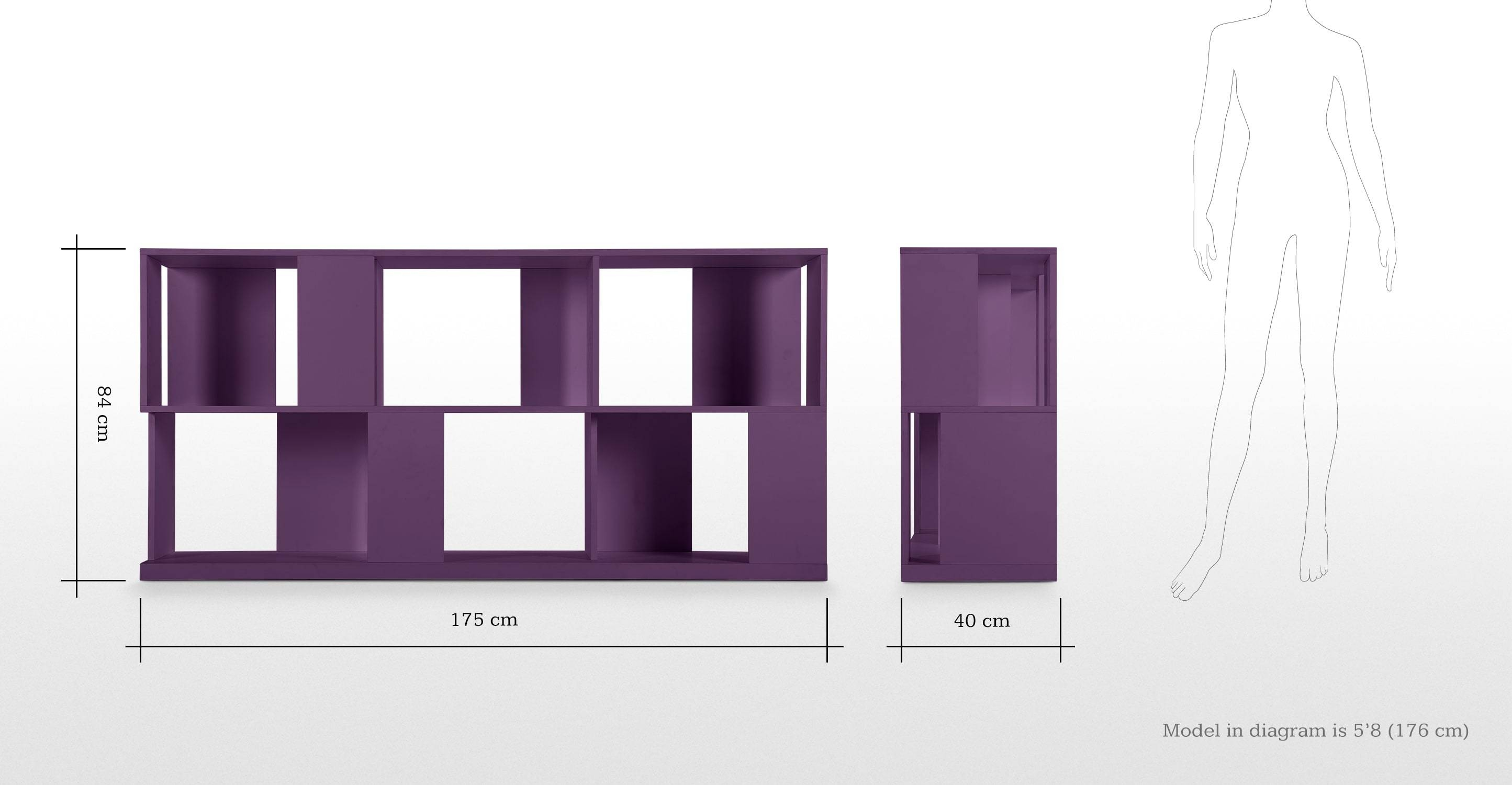Axis Sideboard In Purple Lacquer | Made pertaining to Purple Sideboards (Image 5 of 30)