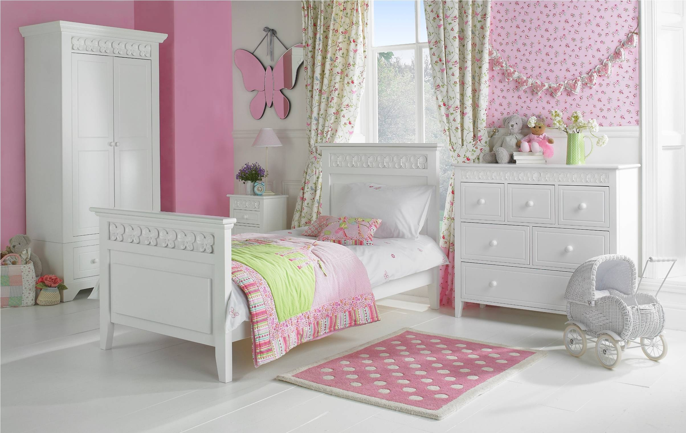 Baby Nursery. Modern Kids Bedroom With Cool Furniture: Girl Child within Childrens Pink Wardrobes (Image 2 of 30)
