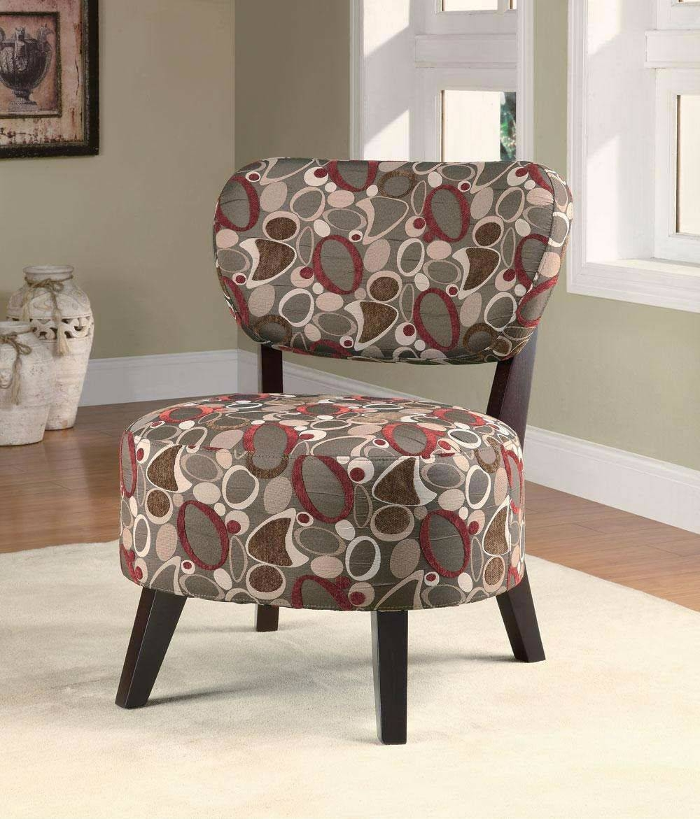 Bachman Brown Fabric Accent Chair - Steal-A-Sofa Furniture Outlet in Accent Sofa Chairs (Image 10 of 30)