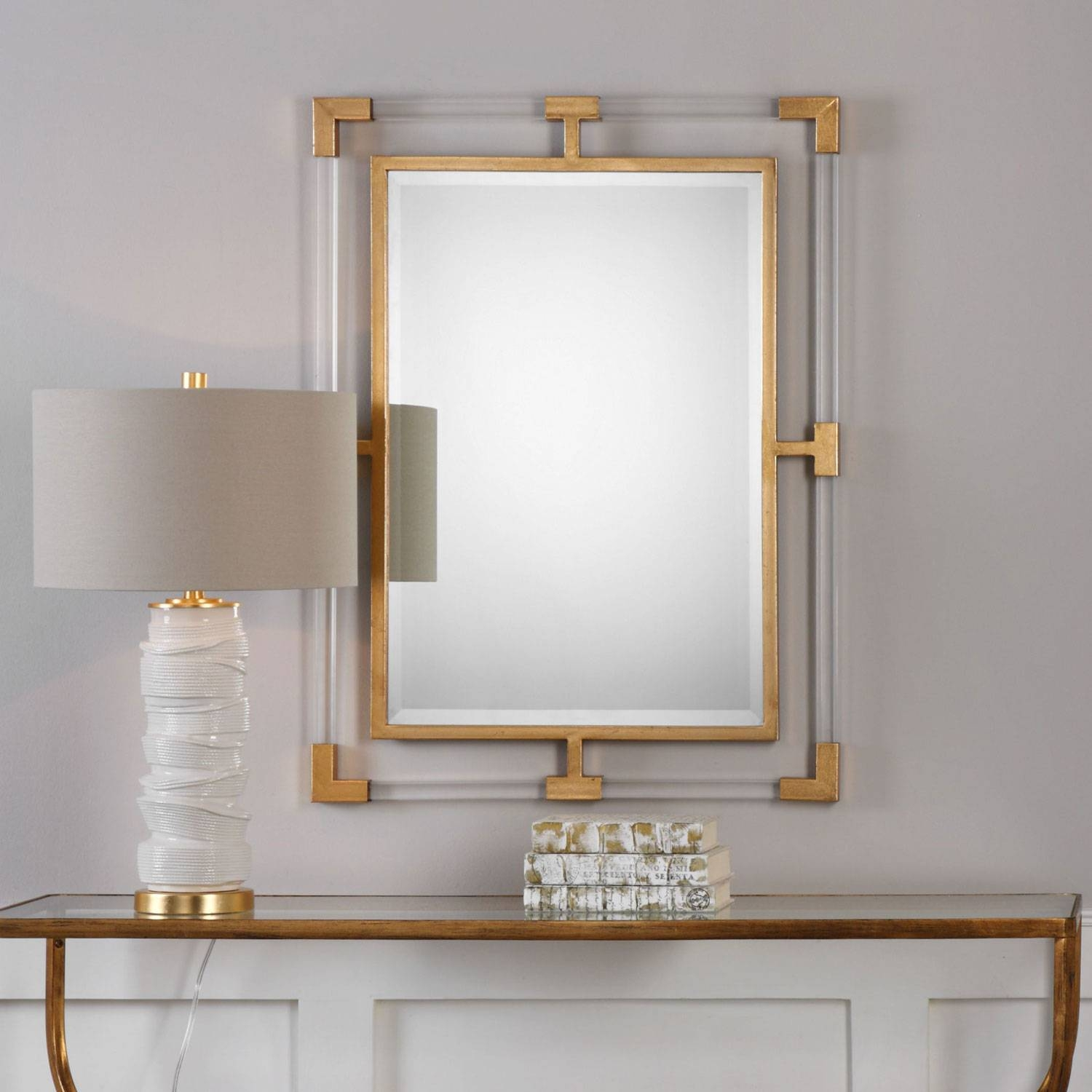 Balkan Modern Gold Wall Mirror Uttermost Wall Mirror Mirrors Home within Modern Gold Mirrors (Image 6 of 25)
