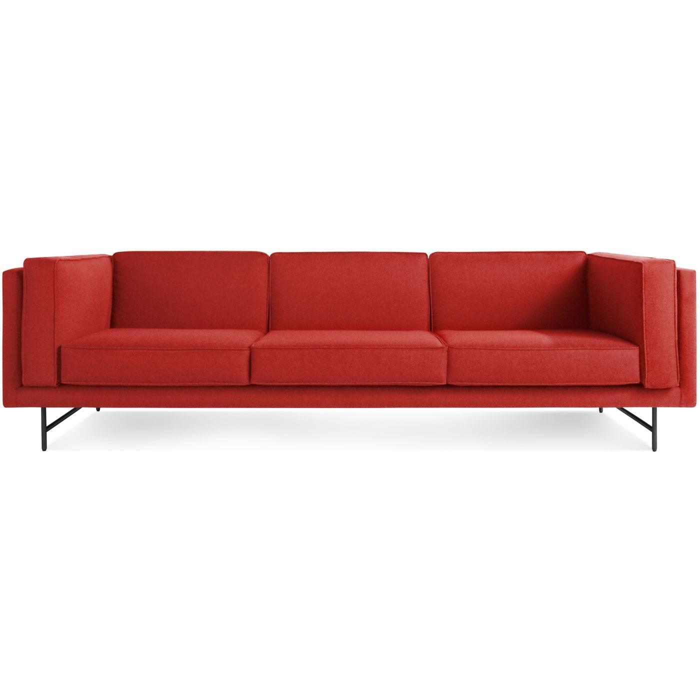 "Bank 96"" Deep Seat Sofa - Low Profile Sofa | Blu Dot regarding Brick Sofas (Image 7 of 30)"
