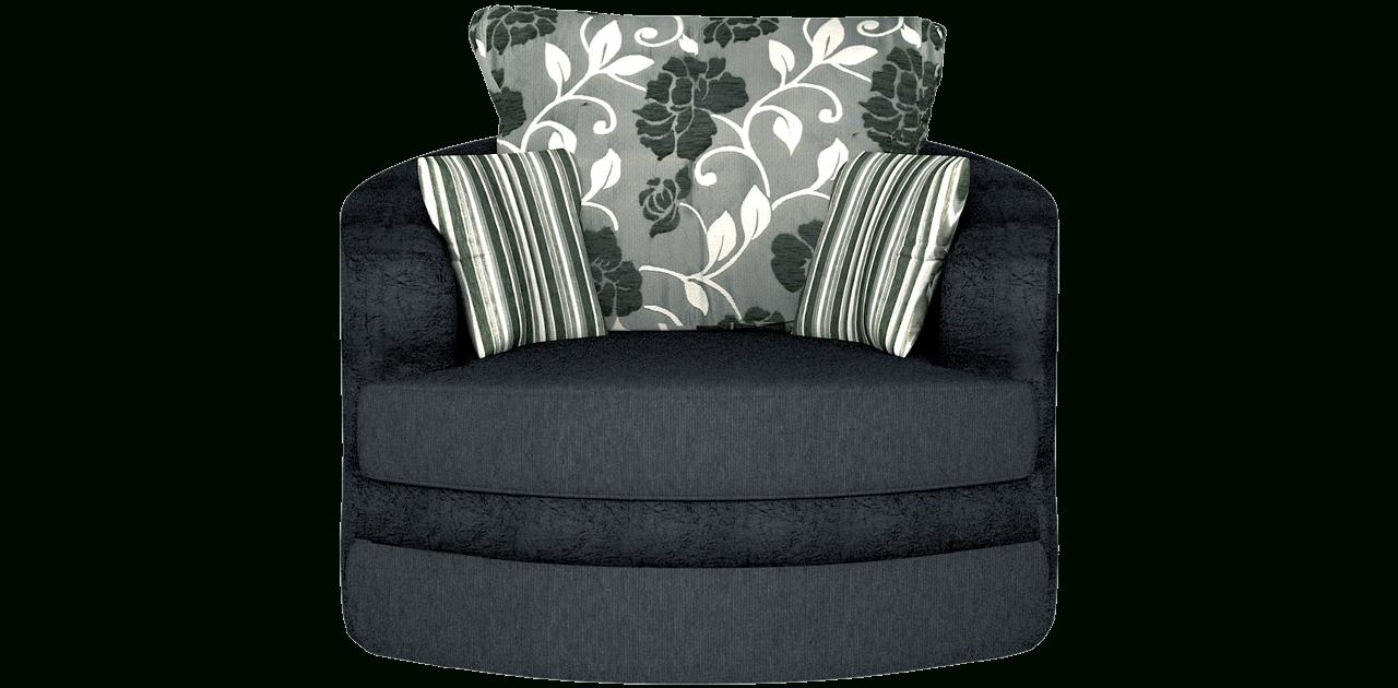 Baron Sofa Black Swivel Chair Sofa - Chairs regarding Swivel Sofa Chairs (Image 2 of 30)