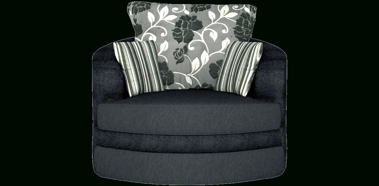 Baron Sofa Black Swivel Chair Sofa - Chairs within Spinning Sofa Chairs (Image 4 of 30)
