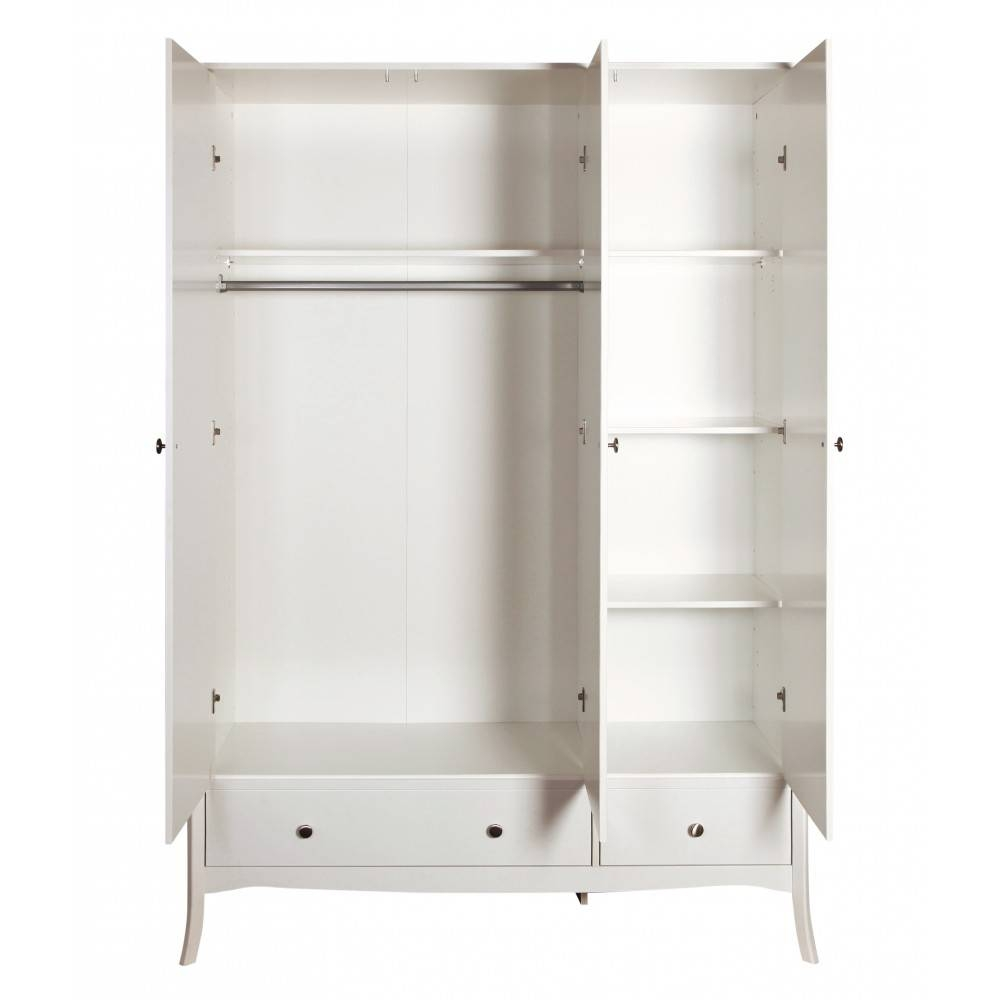 Baroque 3 Door Wardrobe White. Traditional Elegant Wardrobes. for Baroque Wardrobes (Image 3 of 15)