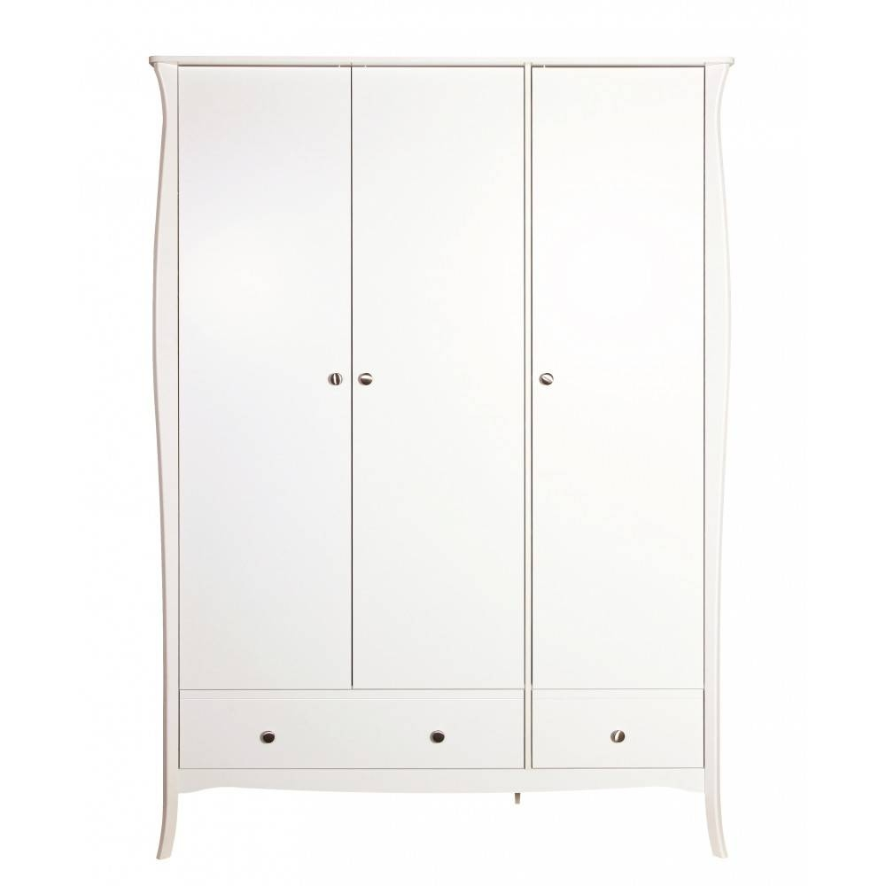 Baroque 3 Door Wardrobe White. Traditional Elegant Wardrobes. in Baroque Wardrobes (Image 4 of 15)