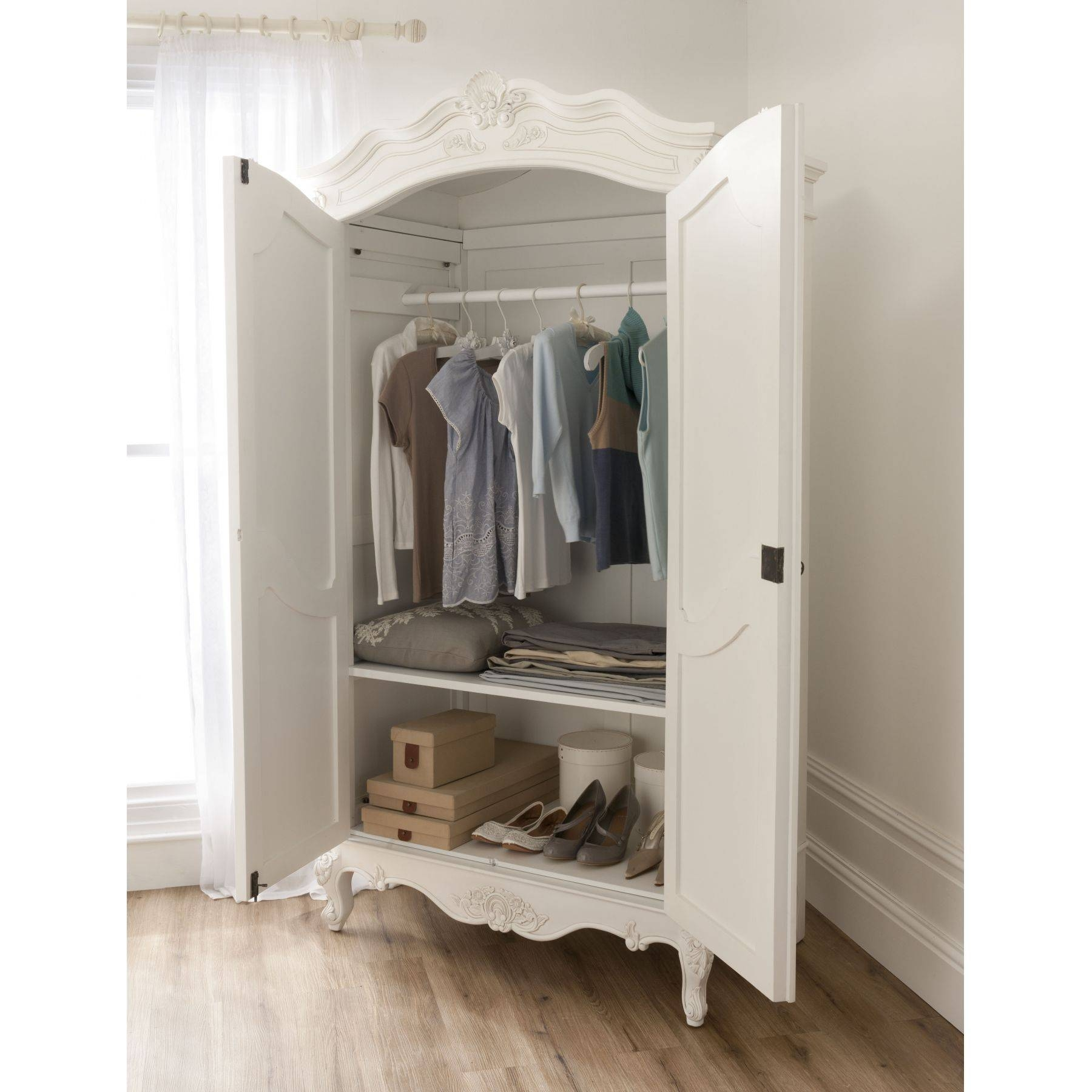 Baroque Antique French Wardrobe Is Available Online From regarding French White Wardrobes (Image 3 of 15)