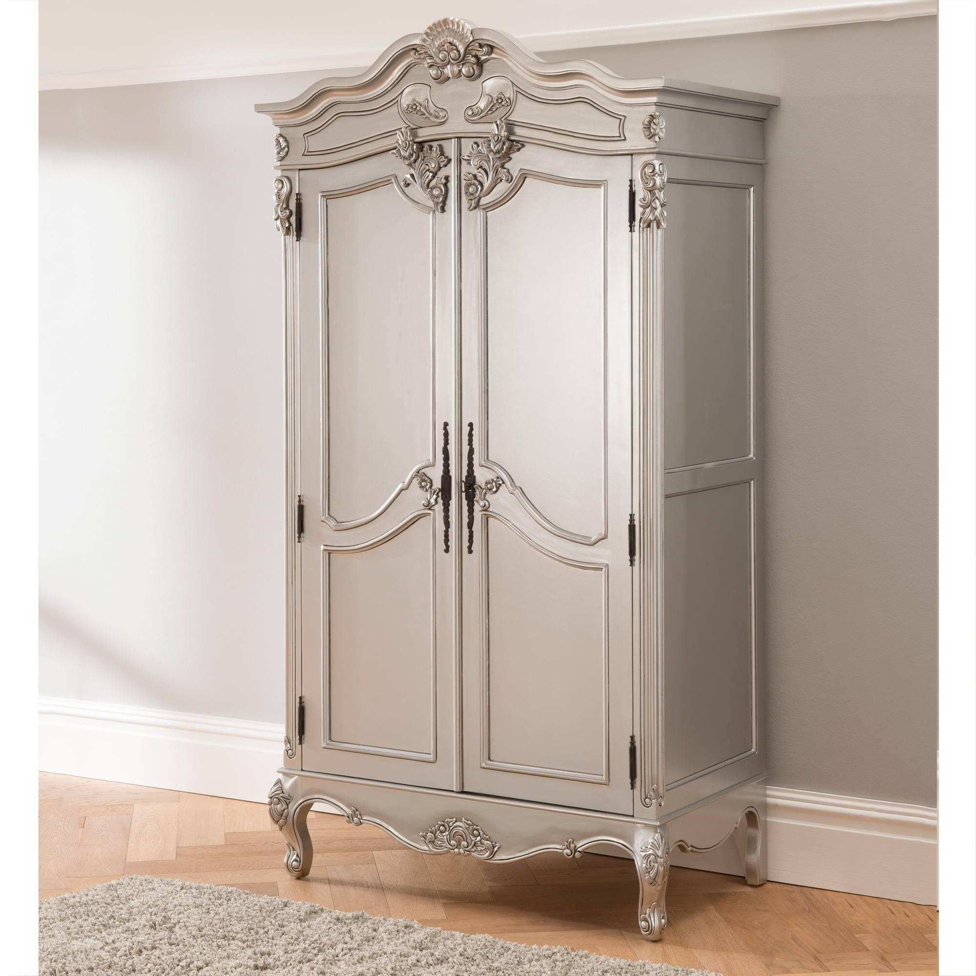 Baroque Antique French Wardrobe Works Exceptional Alongside Our in Chic Wardrobes (Image 1 of 15)