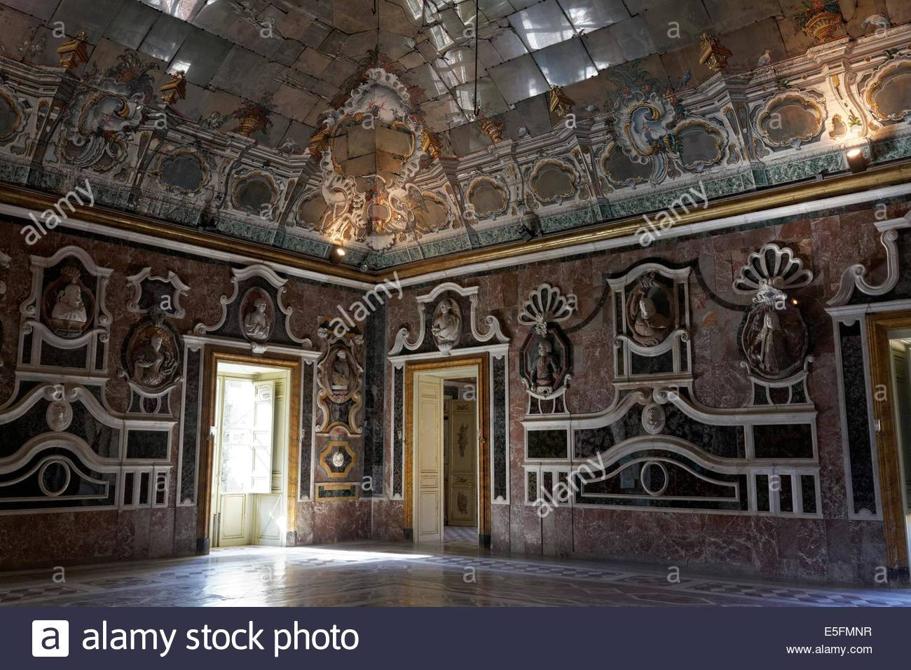Baroque Ballroom With Ceiling Mirrors, Villa Palagonia, Bagheria with Ceiling Mirrors (Image 3 of 25)