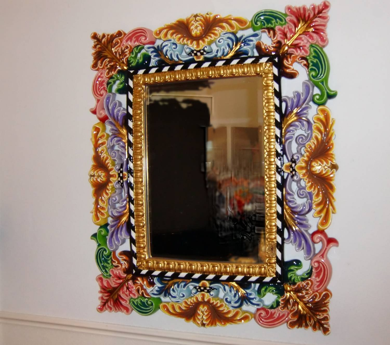 Baroque Mirrors Gold Rose Silver - Surripui throughout Baroque Mirrors (Image 8 of 25)