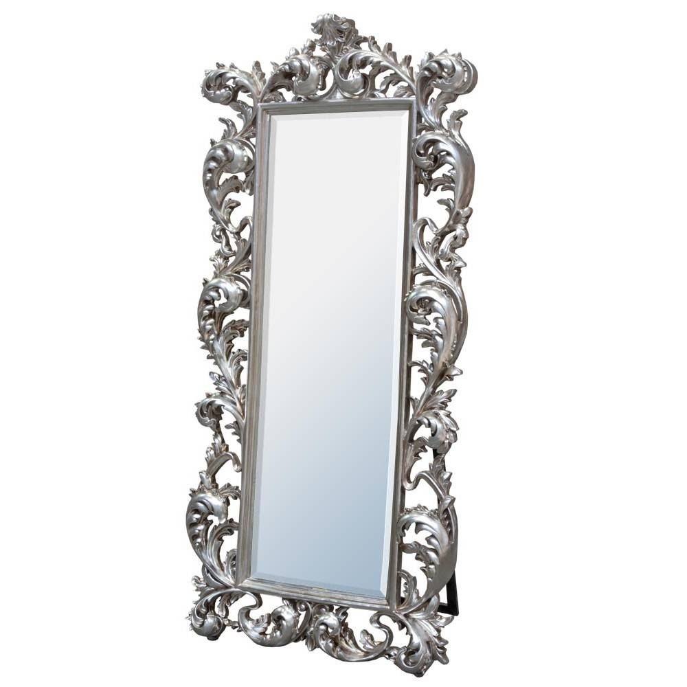 Baroque Silver Free Standing Mirror – Mirrors, Furniture, Lighting Throughout Silver Free Standing Mirrors (View 1 of 25)