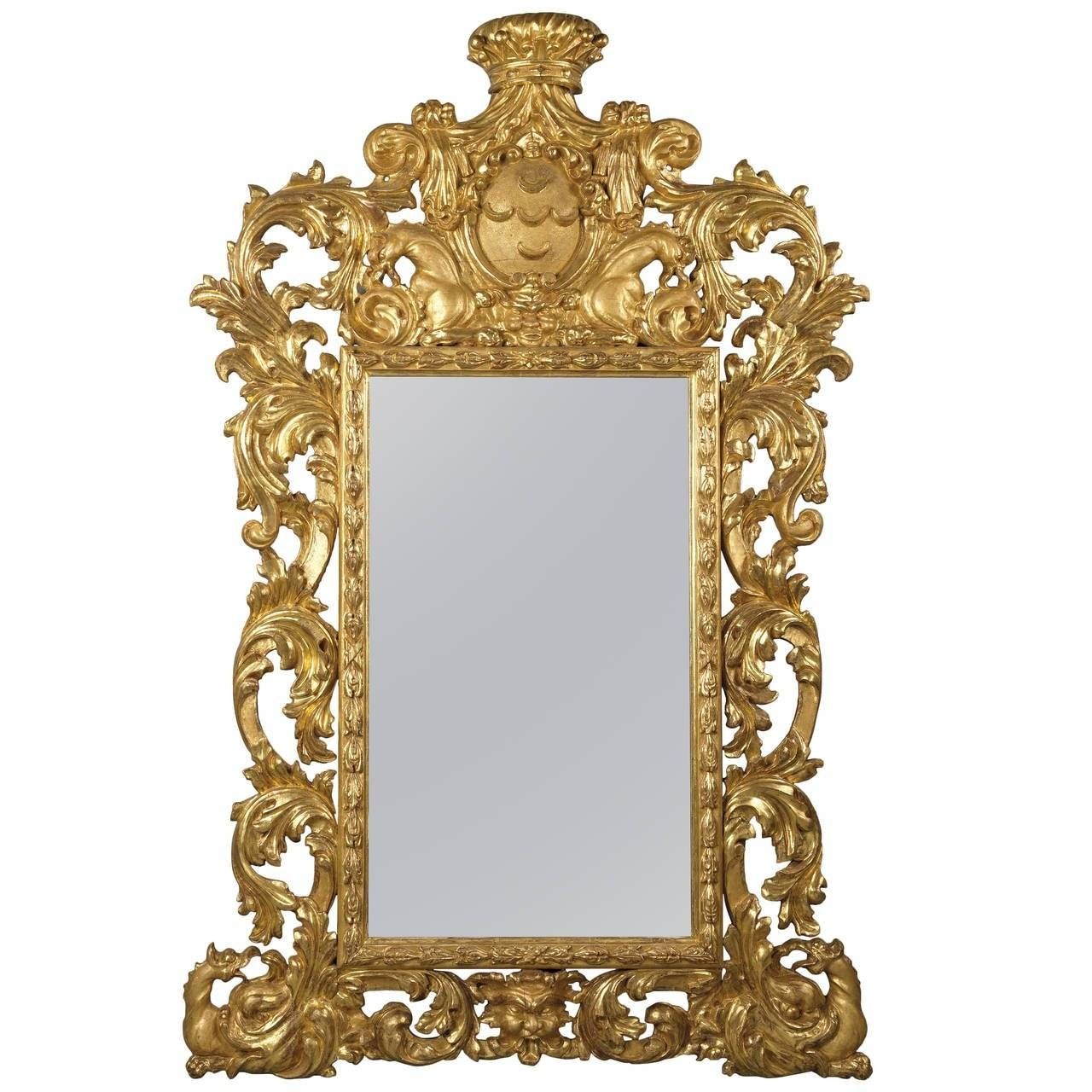 Baroque Style Carved Giltwood Mirror For Sale At 1Stdibs throughout Baroque Style Mirrors (Image 6 of 25)