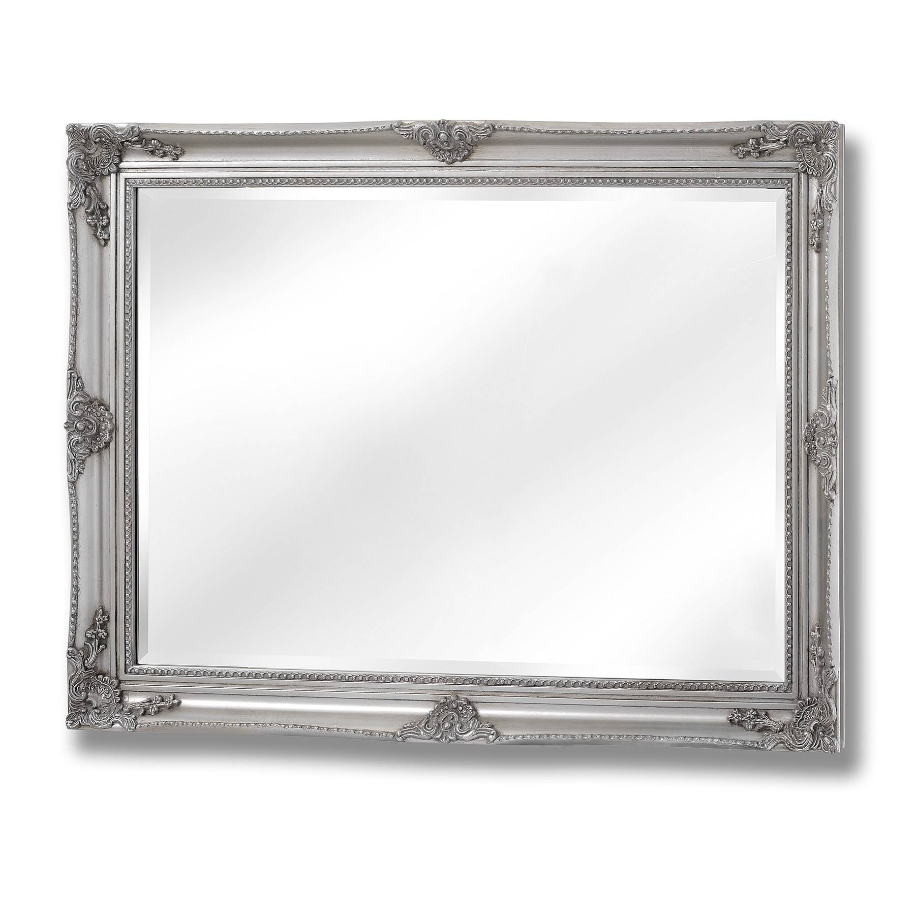 Baroque Style Large Silver Wall Mirror | Happy Home Interiors Regarding Baroque Style Mirrors (View 7 of 25)