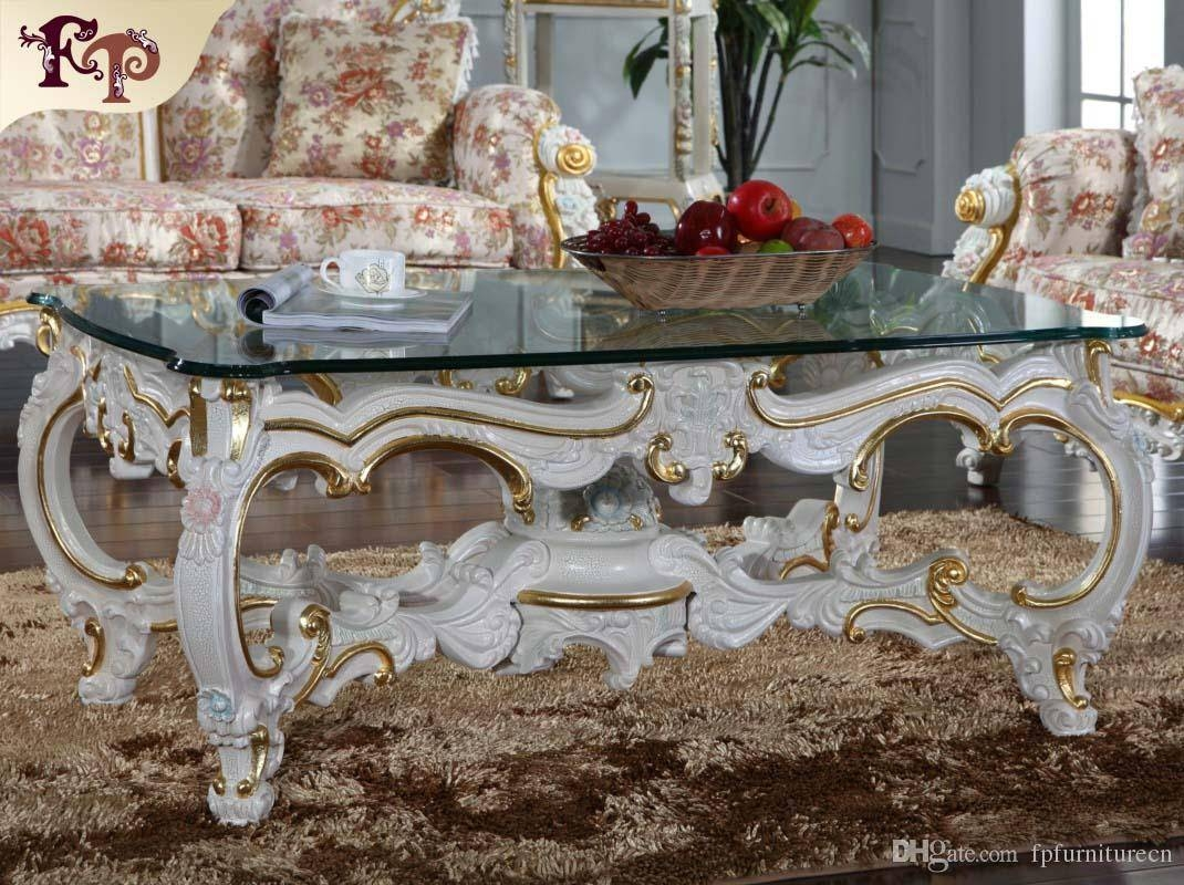 Baroque Style Living Room Furniture  Royalty Classic Coffee Table Regarding Baroque  Coffee Tables (Image