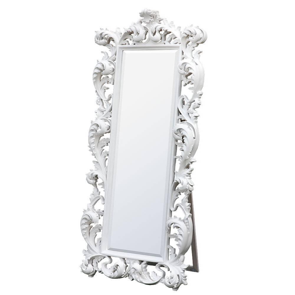 Baroque White Free Standing Mirror - Mirrors, Furniture, Lighting with Baroque White Mirrors (Image 8 of 25)