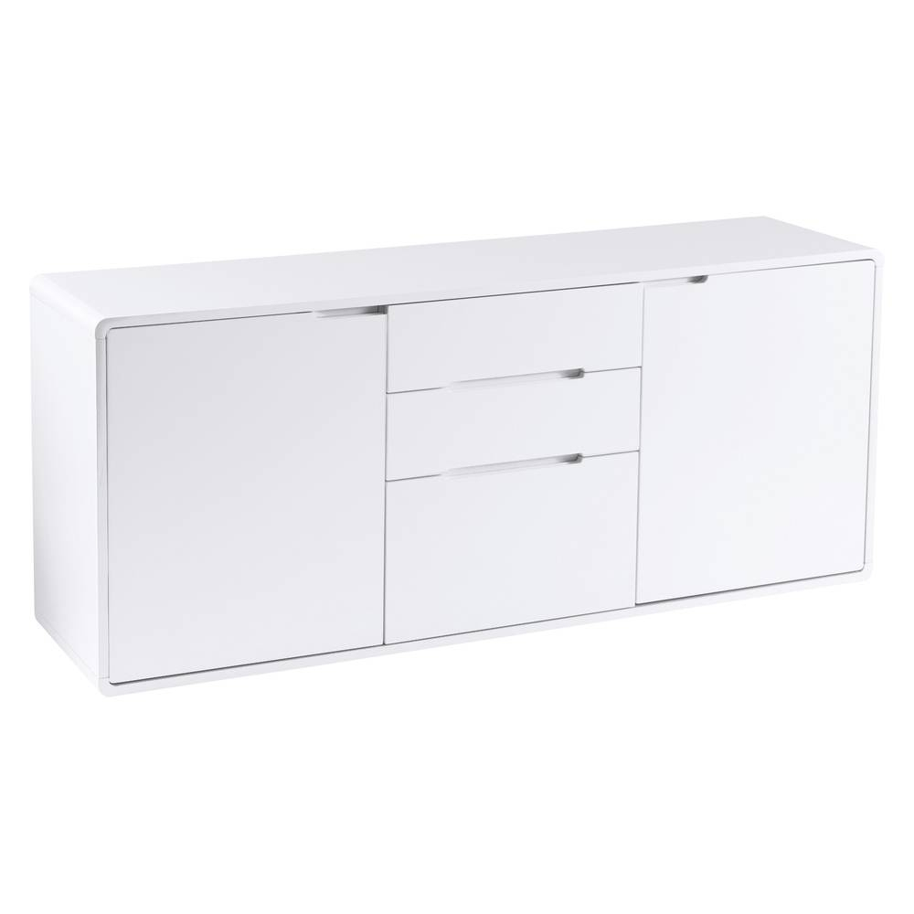 Basel Two Door Sideboard White - Dwell with regard to Contemporary White Sideboards (Image 3 of 30)