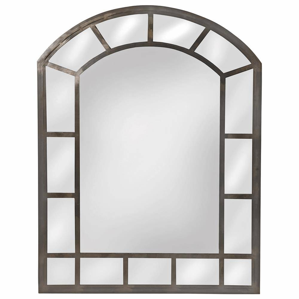 Basilica Gothic Arch Raw Iron Wall Mirror | Kathy Kuo Home pertaining to Gothic Wall Mirrors (Image 5 of 25)