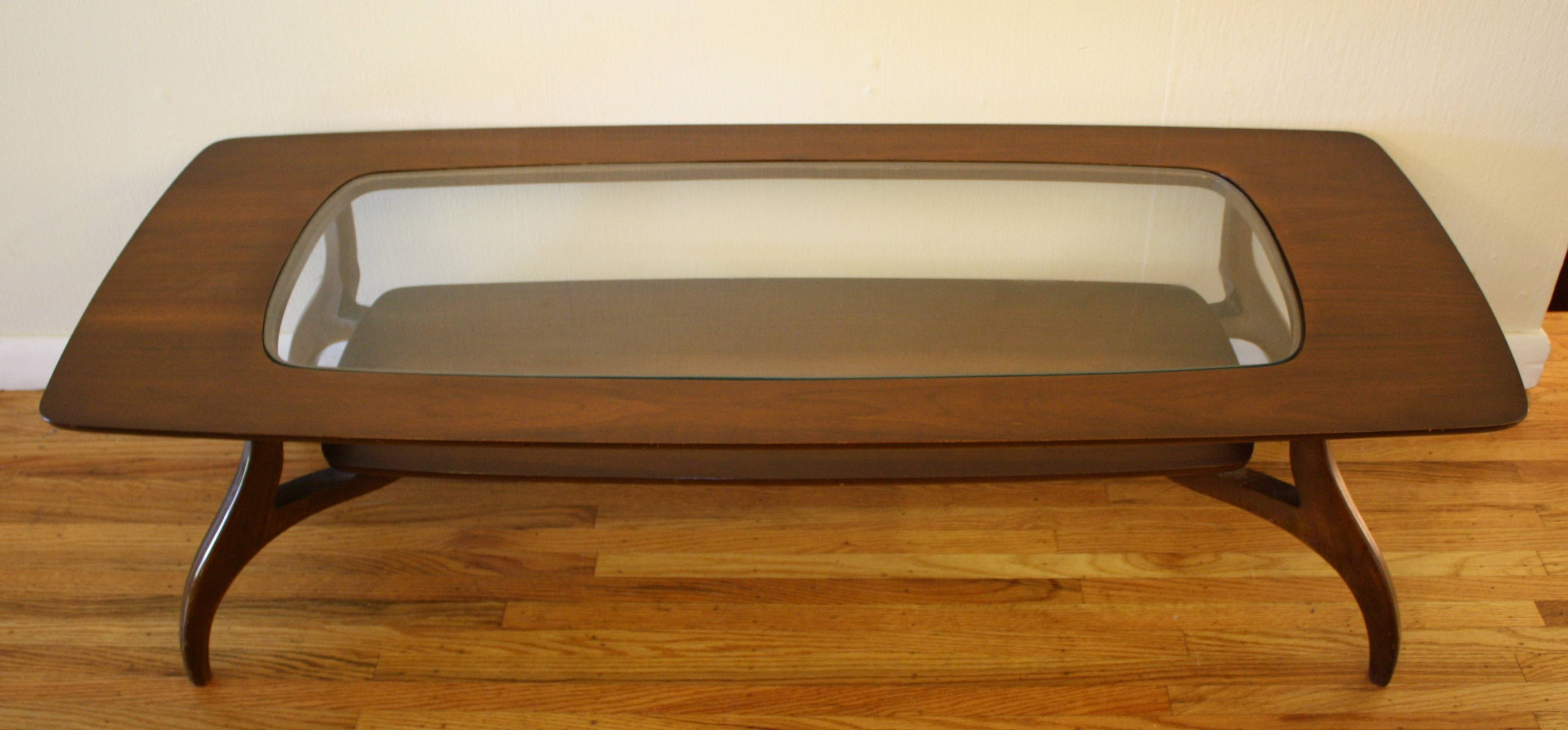 Bassett Coffee Table | Picked Vintage with regard to Retro Glass Top Coffee Tables (Image 6 of 30)