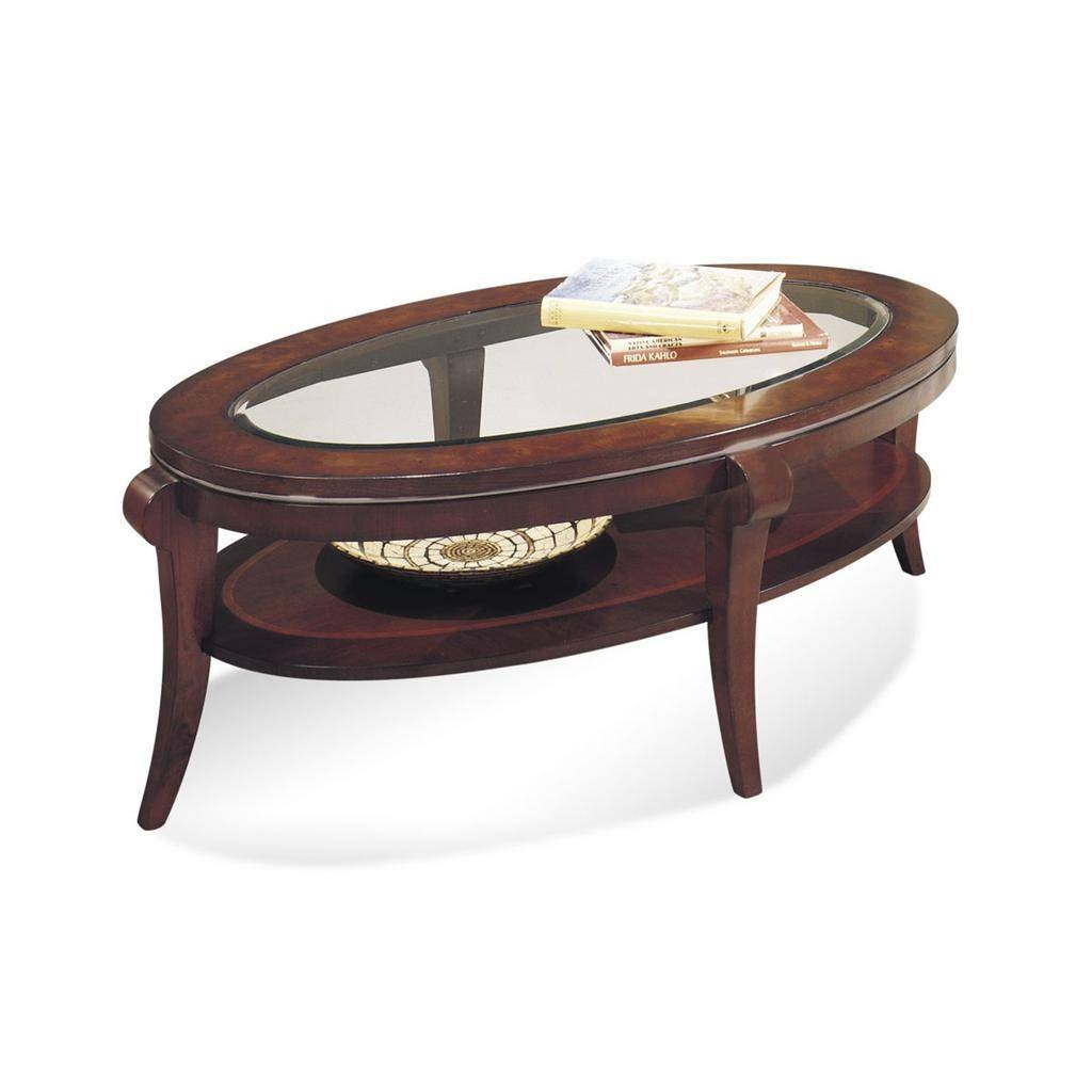 Bassett Mirror 8436-140Ec Ashland Heights Oval Cocktail Table In throughout Oval Mirrored Coffee Tables (Image 2 of 30)