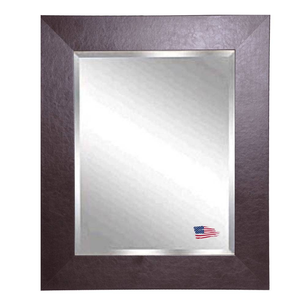 Bassett Mirror Company Diamond Shaped Decorative Wall Mirror Bm M3277B Pertaining To Leather Wall Mirrors (View 12 of 25)