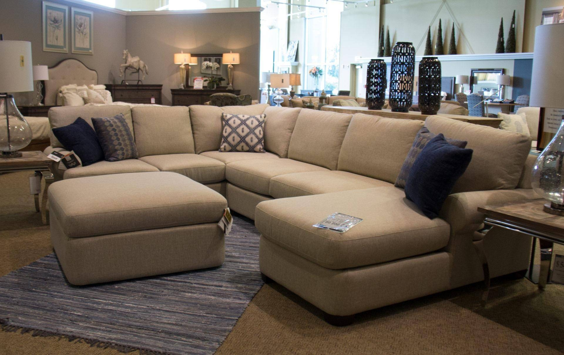 Bassett Monterey 3 Pc. Sectional Sofa - Great American Home Store within Bassett Sectional Sofa (Image 7 of 30)