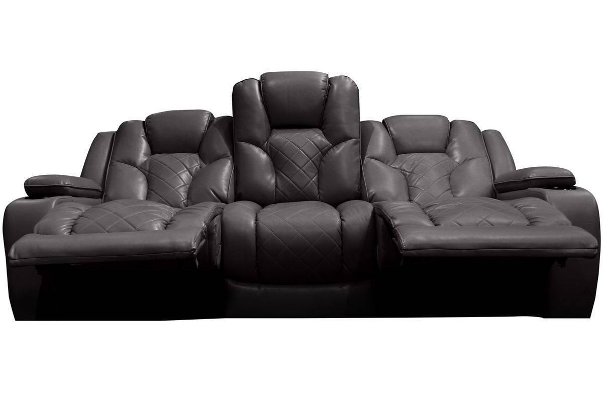 Bastille Power Reclining Sofa With Drop Down Table for Recliner Sofa Chairs (Image 4 of 30)