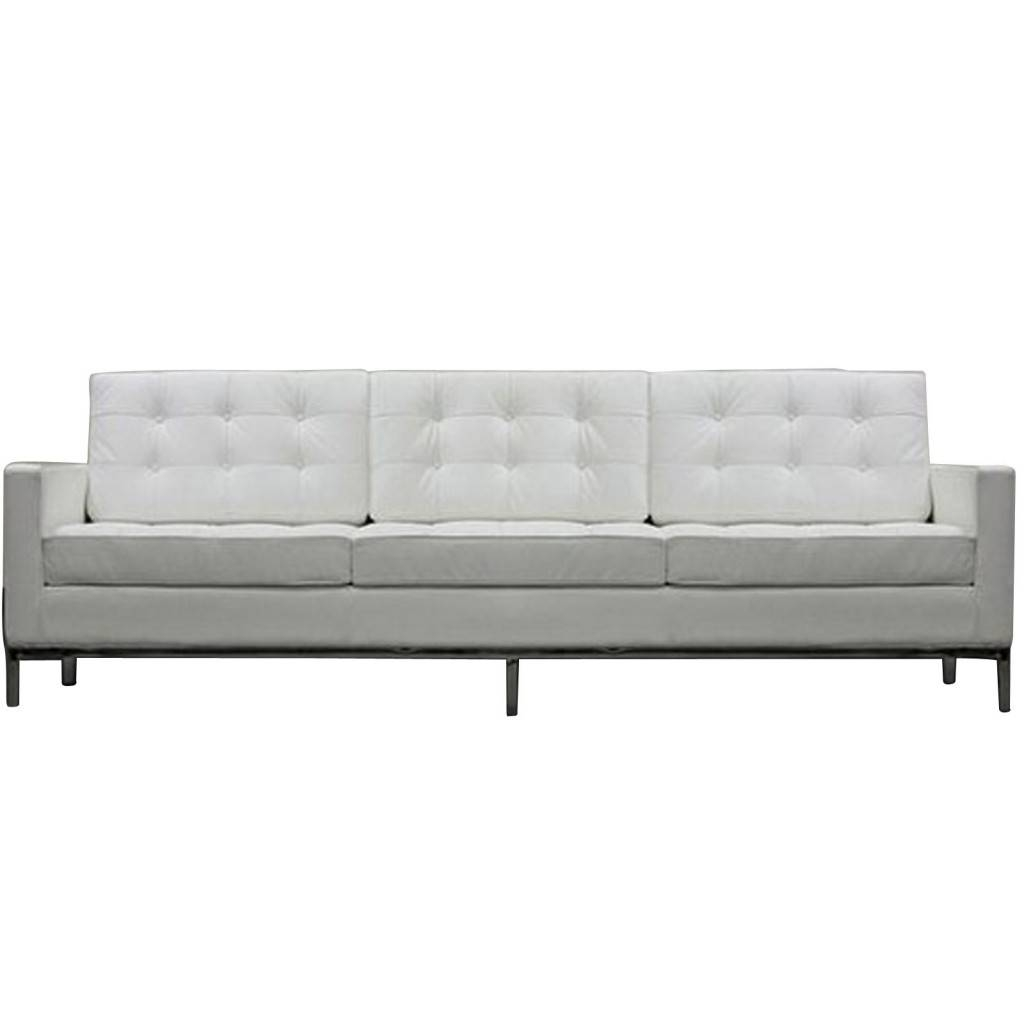 Bateman Leather Sofa | Modern Furniture • Brickell Collection for White Leather Sofas (Image 5 of 30)