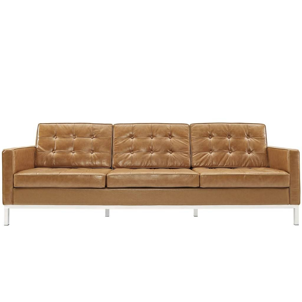 Bateman Leather Sofa | Modern Furniture • Brickell Collection with regard to Light Tan Leather Sofas (Image 1 of 30)