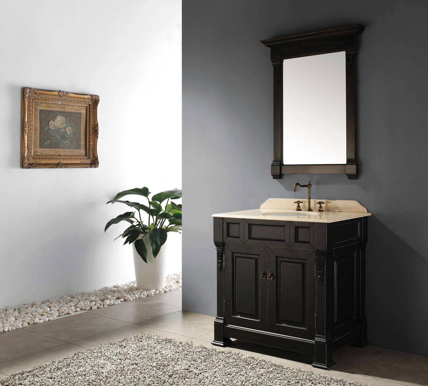 Bathroom: Antique Style Of Lowes Bathroom Mirror For Bathroom with Retro Bathroom Mirrors (Image 6 of 25)