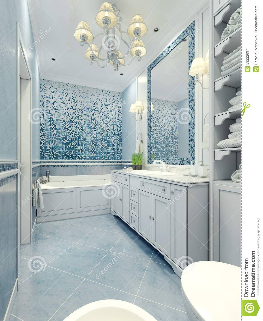 Bathroom Art Deco Style Stock Photo - Image: 59222697 with regard to Art Deco Style Bathroom Mirrors (Image 15 of 25)