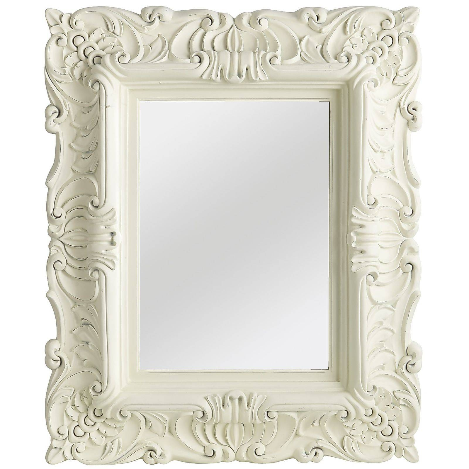 25 best collection of white baroque wall mirrors for Baroque bathroom mirror