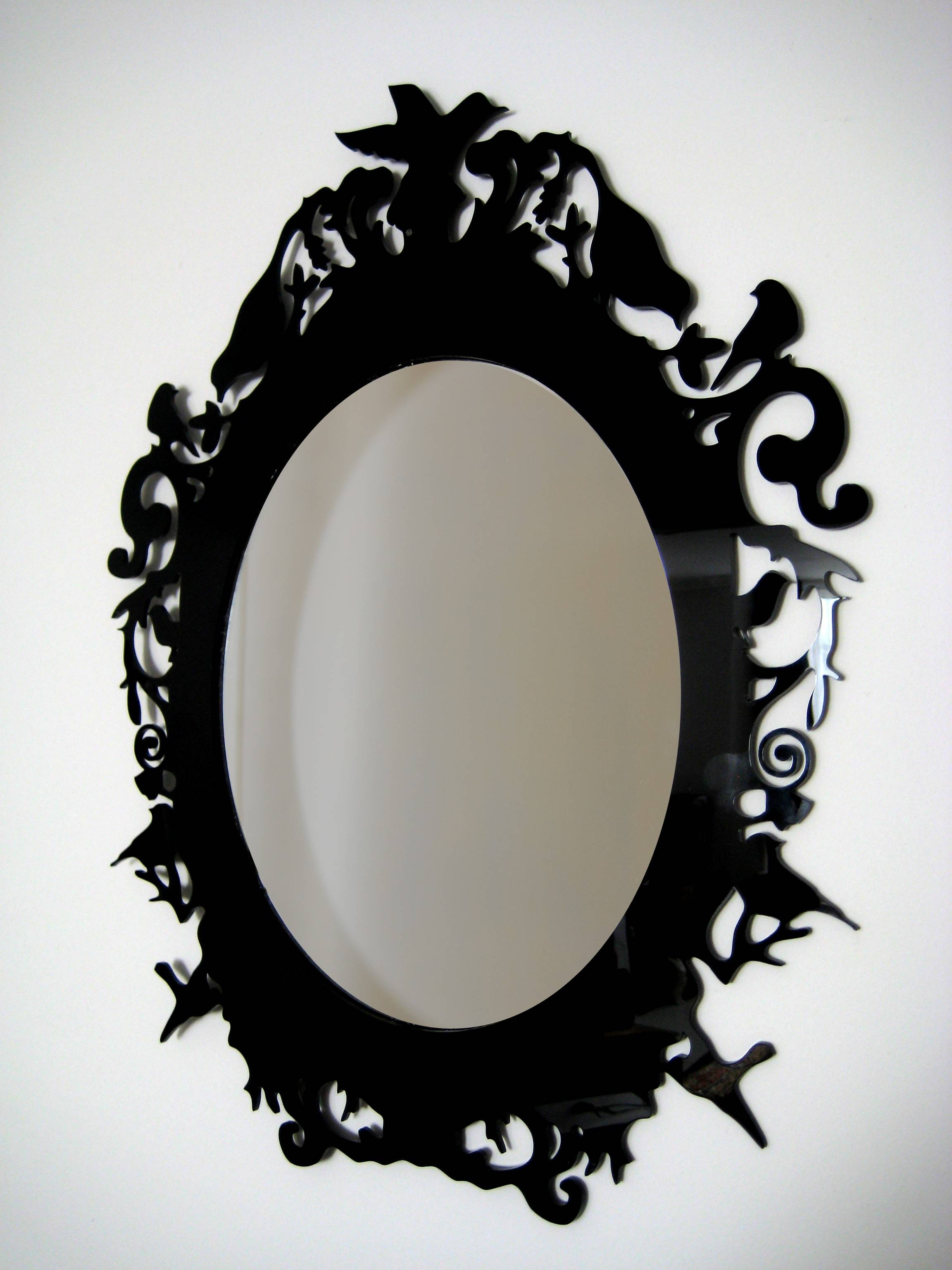 Bathroom: Astounding Baroque Mirror With Unique Frame For Bathroom Inside Gothic  Style Mirrors (Photo