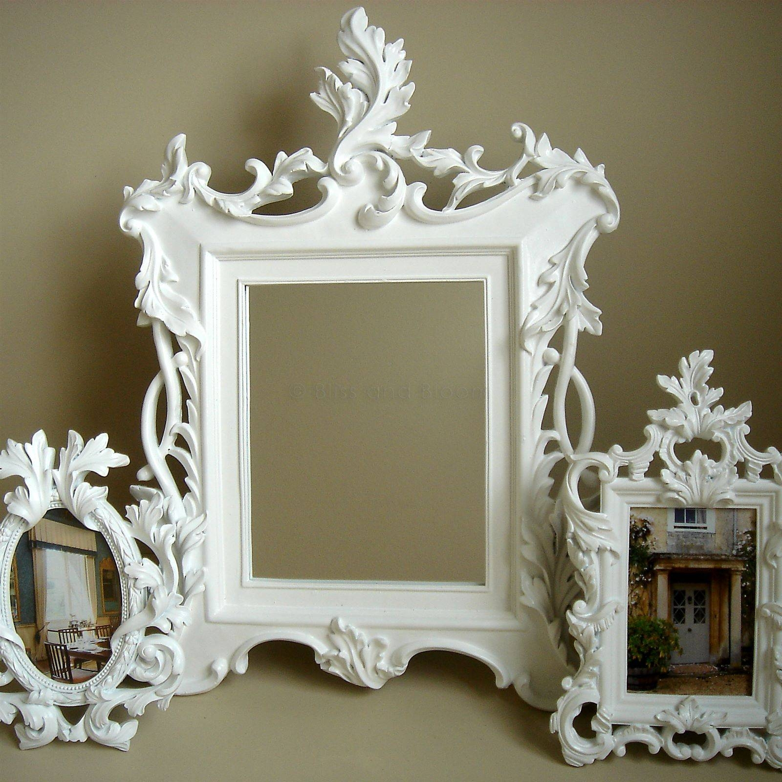 Bathroom: Astounding Baroque Mirror With Unique Frame For Bathroom intended for White Baroque Wall Mirrors (Image 4 of 25)