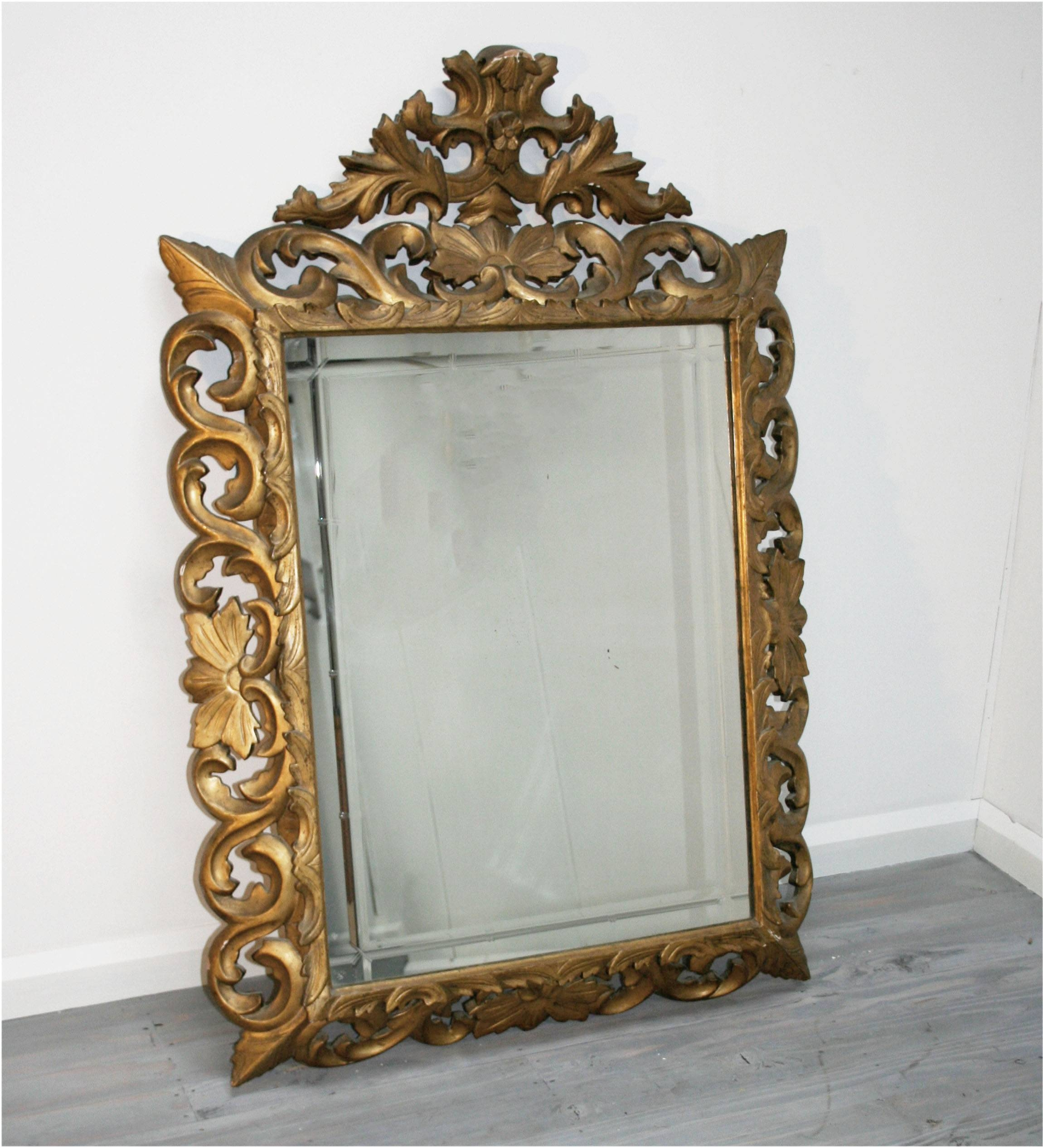 Bathroom: Astounding Baroque Mirror With Unique Frame For Bathroom regarding Antique Gilt Mirrors (Image 15 of 25)