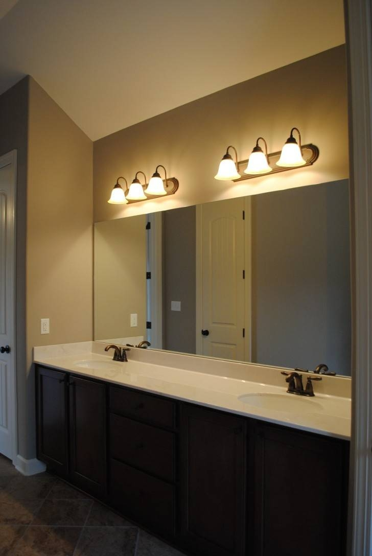 Bathroom. Astounding Modern Bathroom Vanity Lights With Charming regarding Long Brown Mirrors (Image 3 of 25)