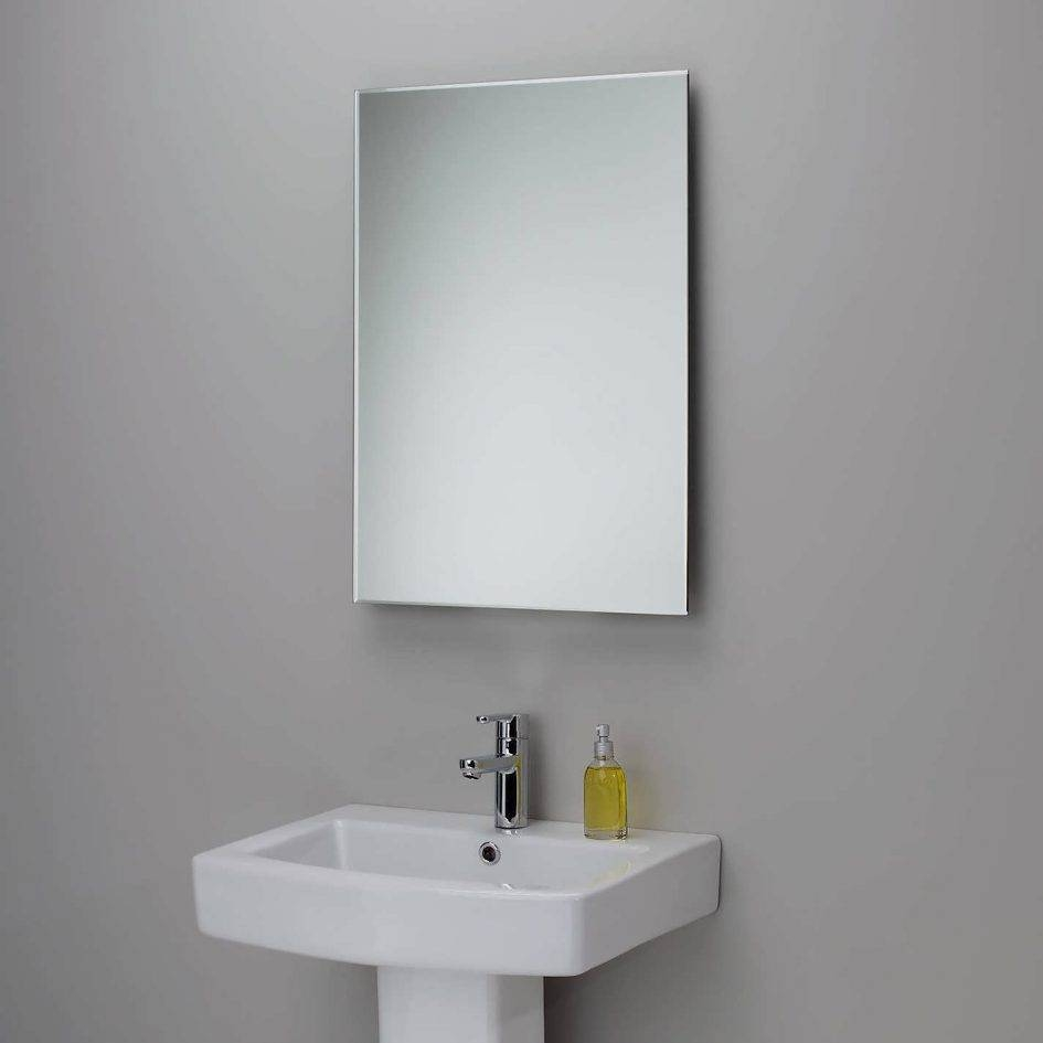 Bathroom : Bathroom Mirror With Lights Illuminated Mirrors Custom for Large No Frame Mirrors (Image 1 of 25)