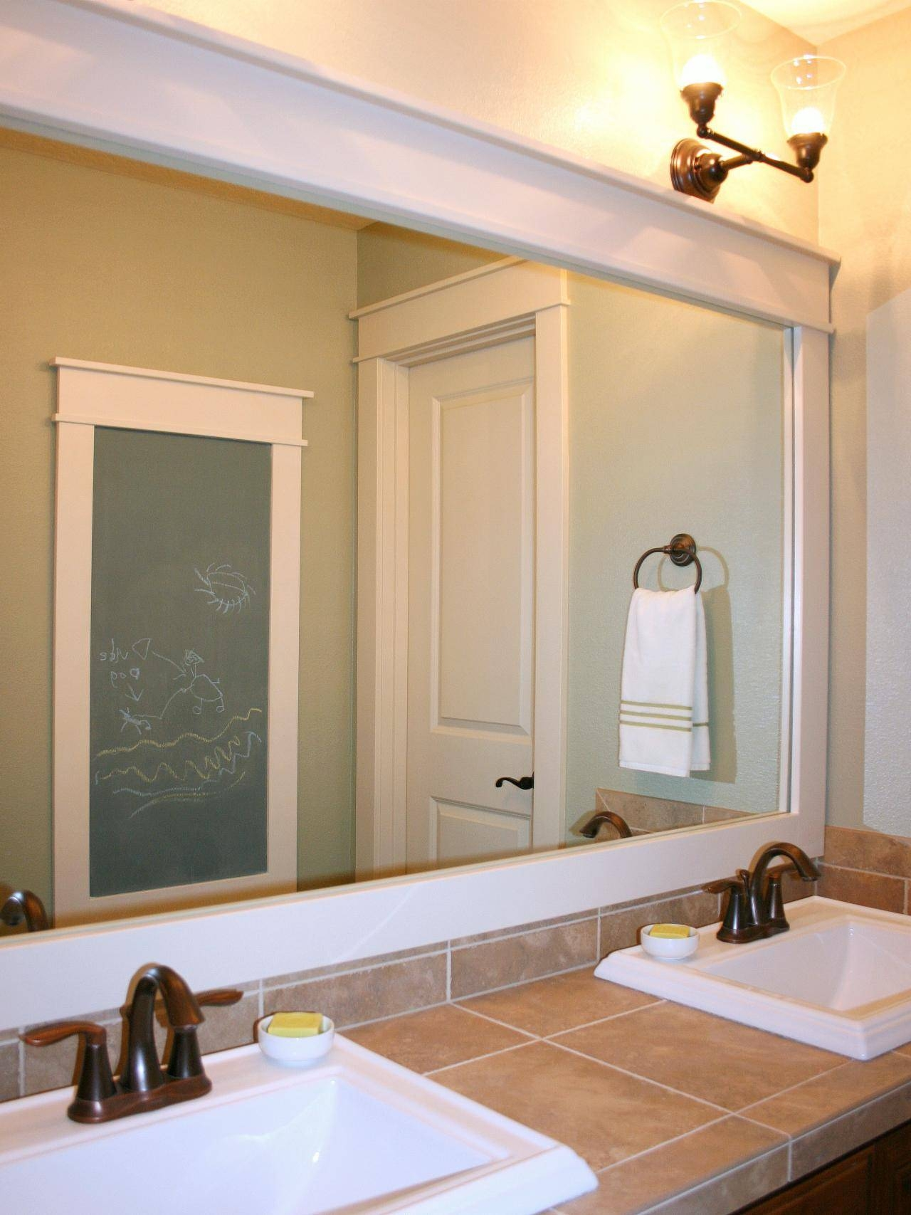Bathroom: Bathroom Vanity Mirror | Large Framed Bathroom Mirrors inside Venetian Bathroom Mirrors (Image 7 of 25)