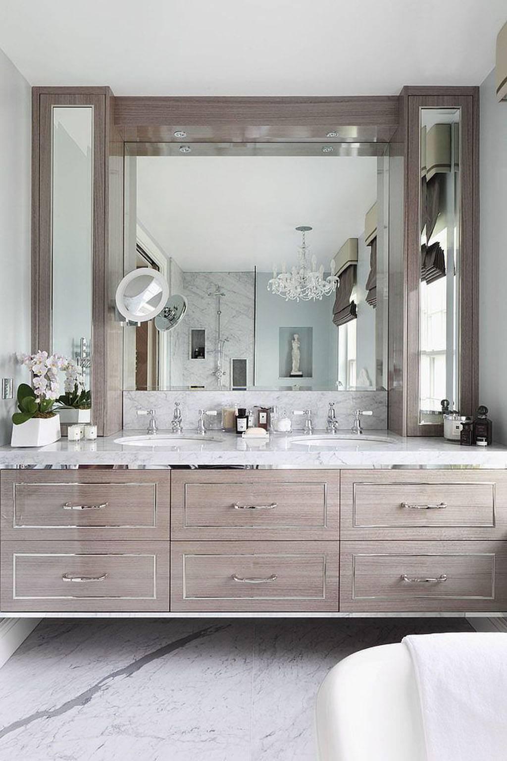 Bathroom Cabinets : Silver Mirror Bathroom Mirrors Chrome Bathroom for Tall Silver Mirrors (Image 4 of 25)