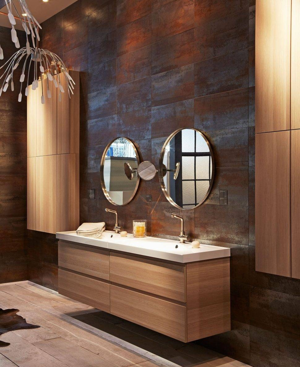 Bathroom : Design Faux Painting Bathrooms Floated Bathroom Vanity in Unusual Round Mirrors (Image 5 of 25)
