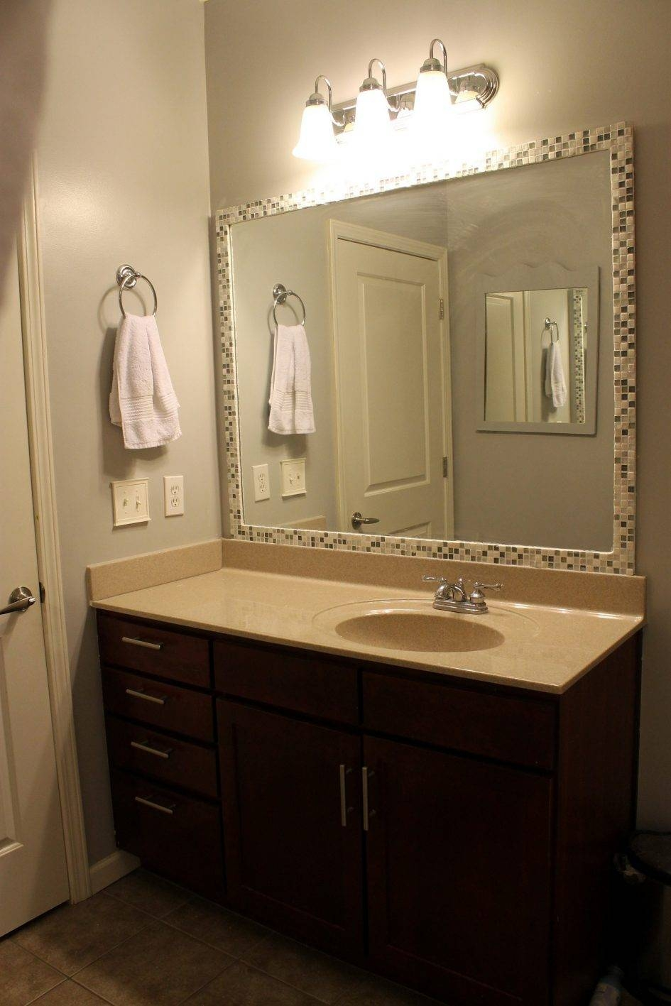Bathroom. Enchanting Large Framed Bathroom Mirrors: Elegant Large throughout Huge Cheap Mirrors (Image 3 of 25)