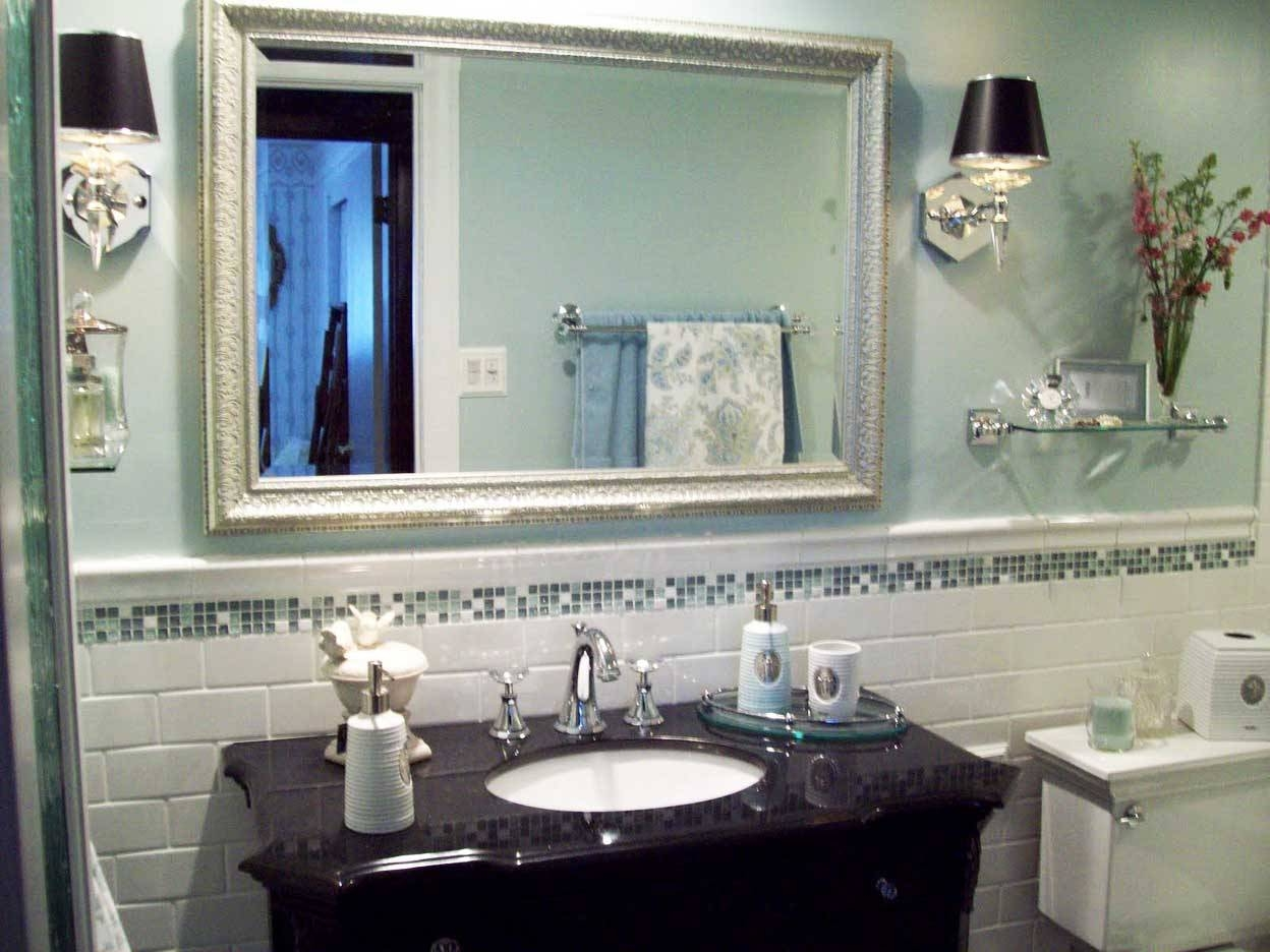 Bathroom. Exciting Bathroom Mirrors Decoration Ideas. Kropyok Home regarding Glitter Frame Mirrors (Image 5 of 25)