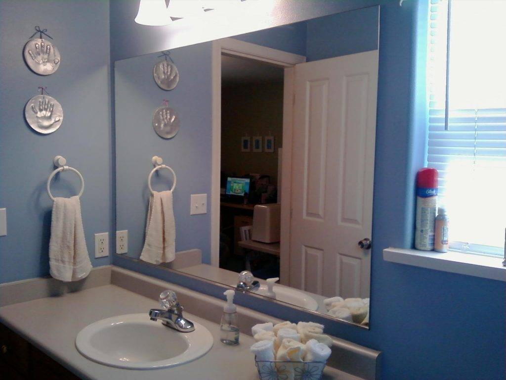 Bathroom ~ Frame Bathroom Mirror And Blue Wall Plus White Bathroom throughout Mirrors With Blue Frame (Image 3 of 25)