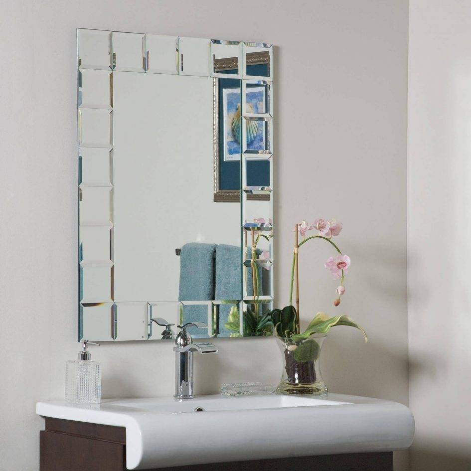 Bathroom : Framed Wall Mirrors Art Deco Bathroom Mirror Large within Deco Bathroom Mirrors (Image 11 of 25)