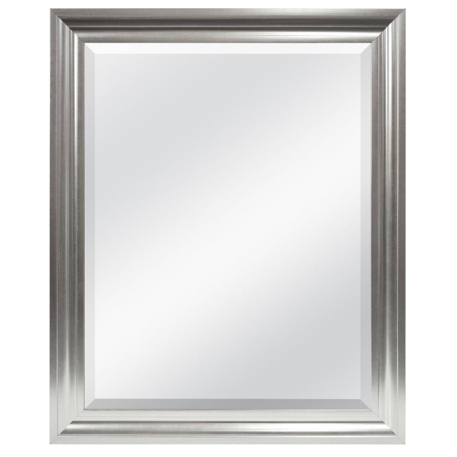 Bathroom: Frameless Beveled Bathroom Mirror | Frameless Beveled regarding Full Length Frameless Mirrors (Image 1 of 25)